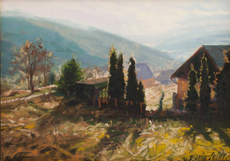 Żar-Mountain-in-Międzybrodzie-Żywieckie-21x30-oil-on-canvas-by-Daria-Solar