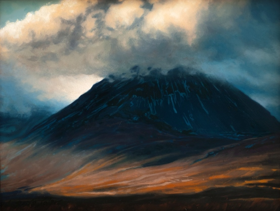Paps of Jura - 35x27cm - based on a spectacular photo by my friend Konrad Borkowski - available