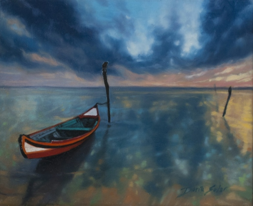 Red Boat by Daria Solar 20x25 - available -