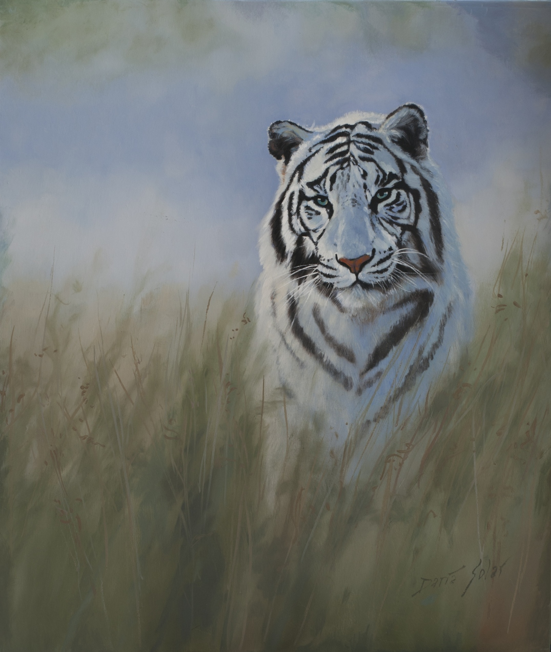Tigress by Daria Solar 50x60 oil on canvas