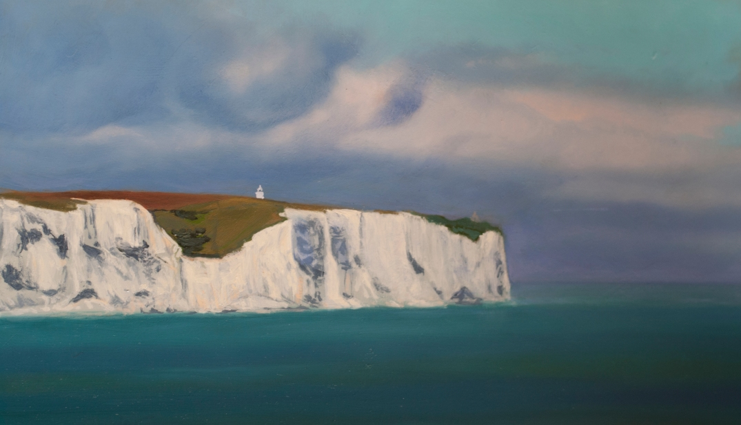 White Cliffs of Dover by Daria Solar oil on board