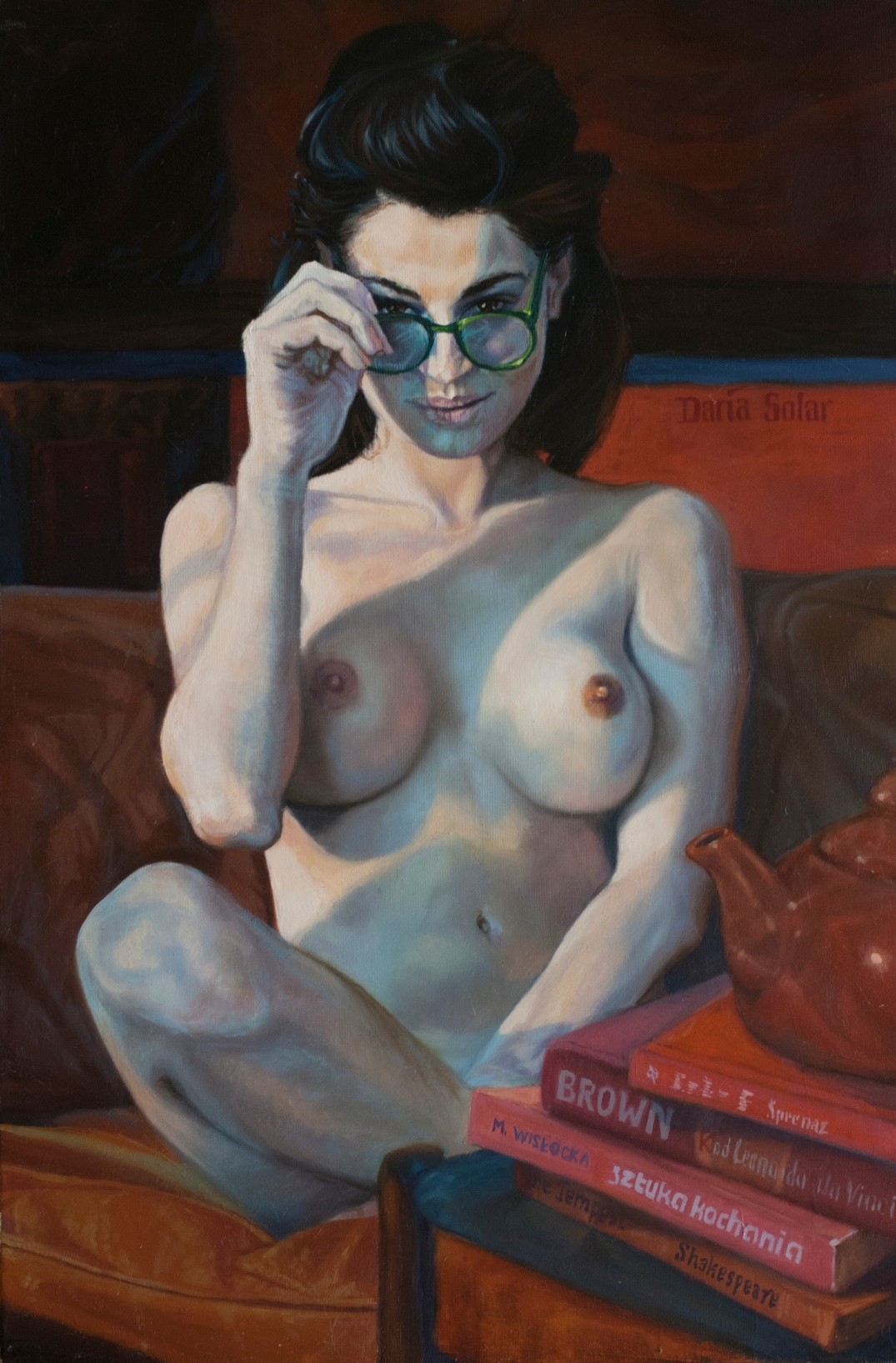 you dont read - Im not having sex with you by Daria Solar oil on canvas 40x60