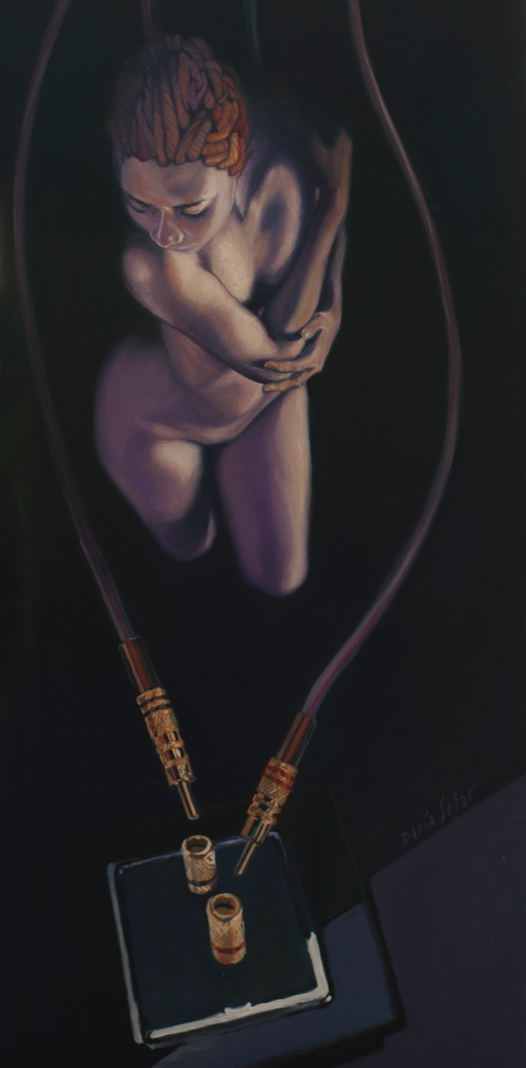 Baffled Euterpe oil on canvas 30x70 by Daria Solar