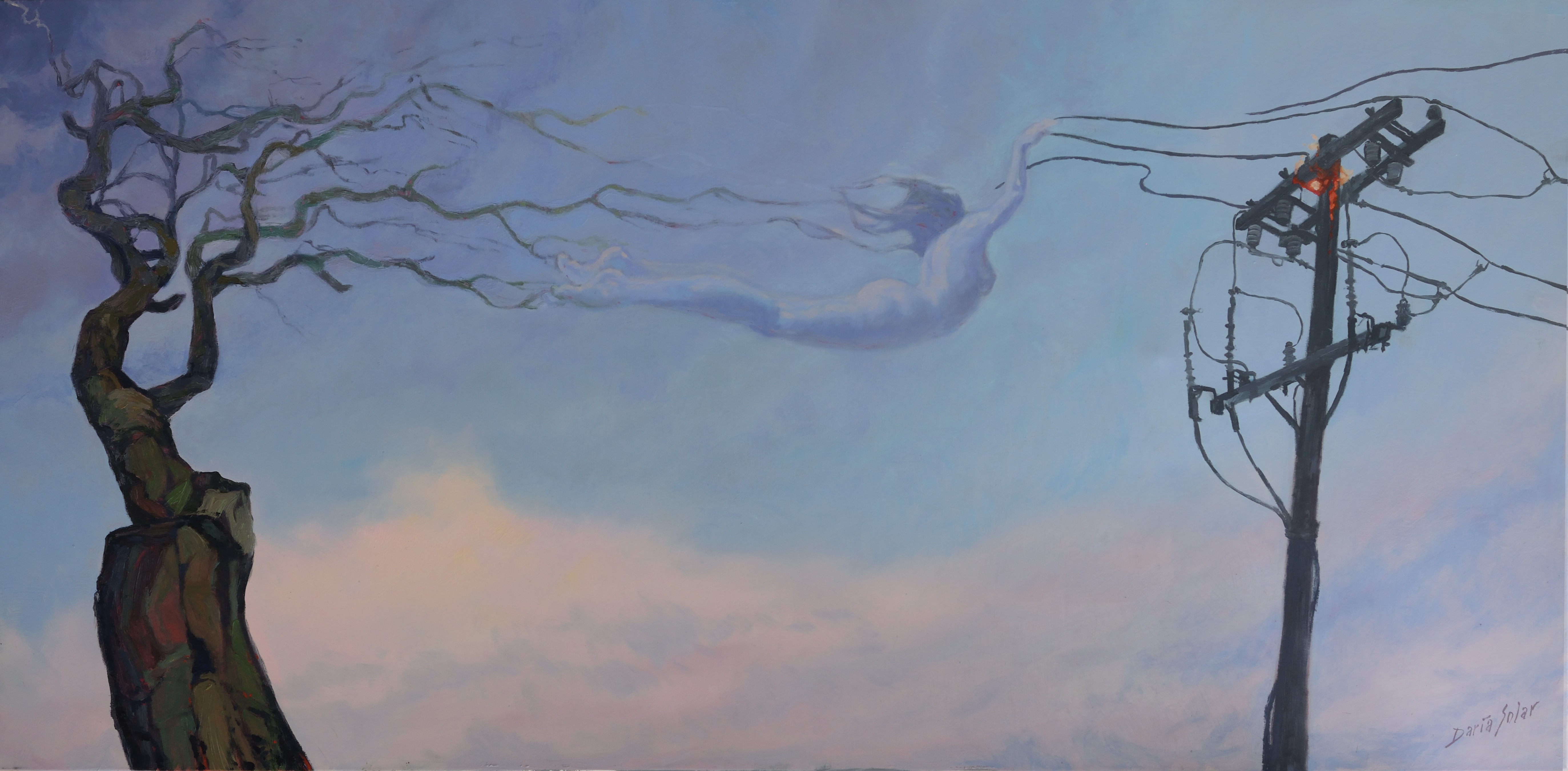 WRATH oil on canvas 60x1210 by Daria Solar