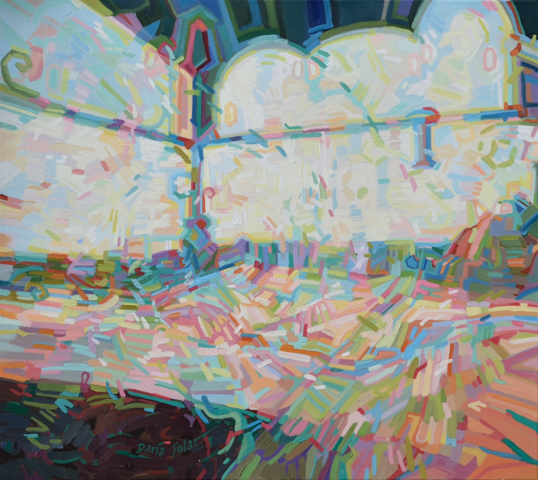 SCHEIBLEROWNIA, oil on canvas, abstrakcja