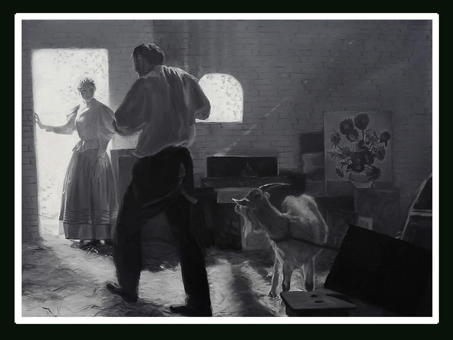 scena z kozą