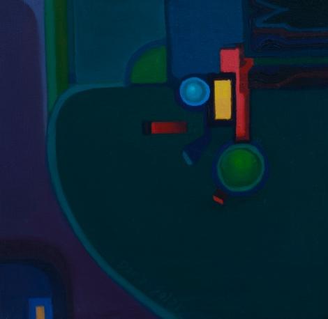 Semaphore by Daria Solar oil on canvas 20x20