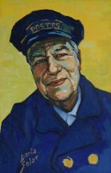 Jerzy Stuhr ala Postman z Twój Vincent autorka Daria Solar