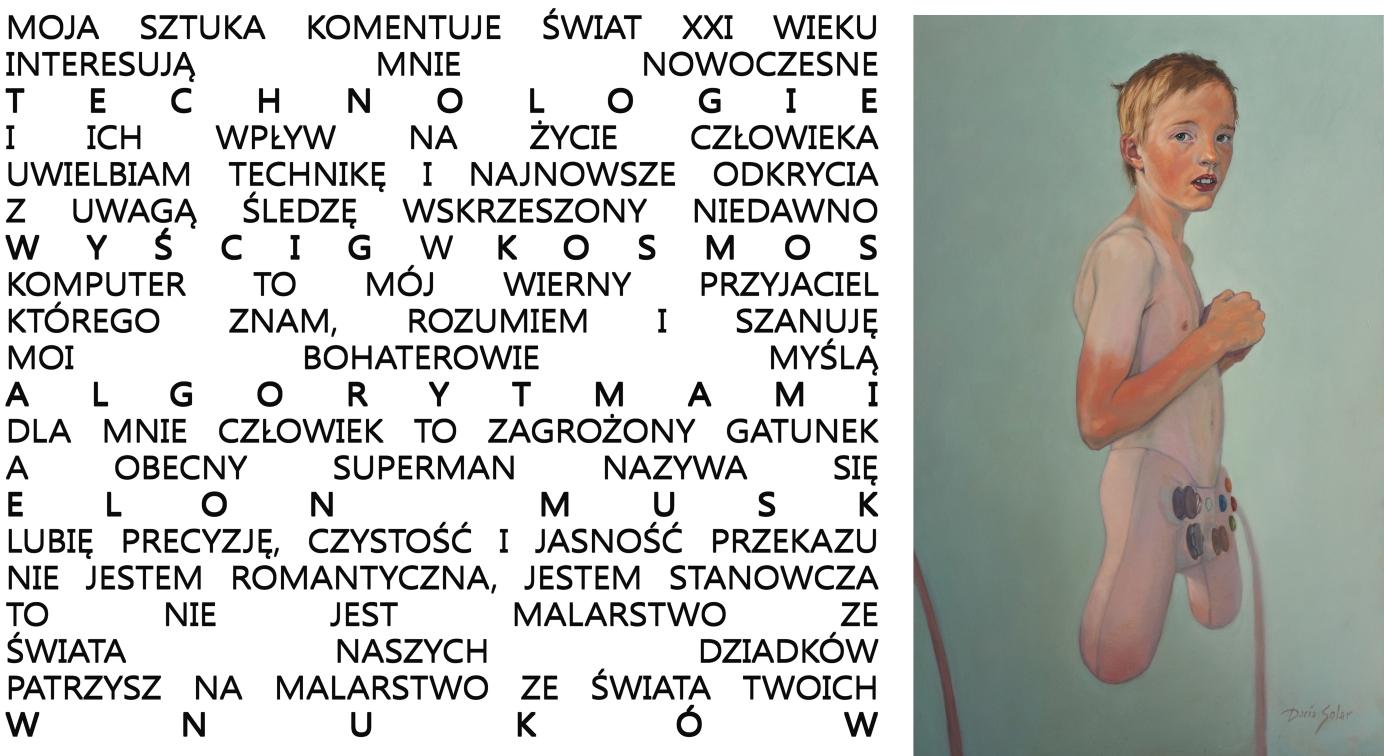 ARTIST STATEMENT z Chłopcem na strone 2020 40x60
